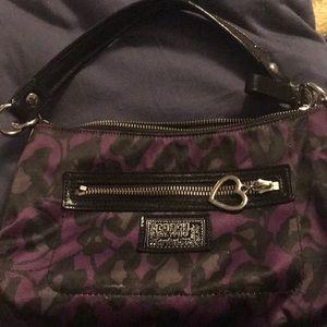 Coach Black and Purple Poppy purse